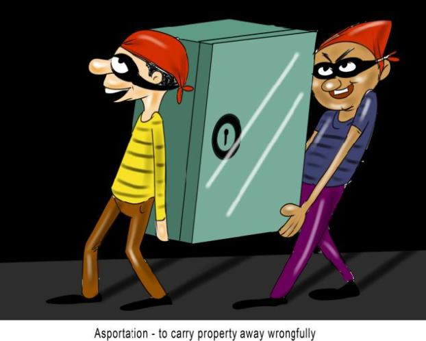 Asportation to carry property away wrongfully