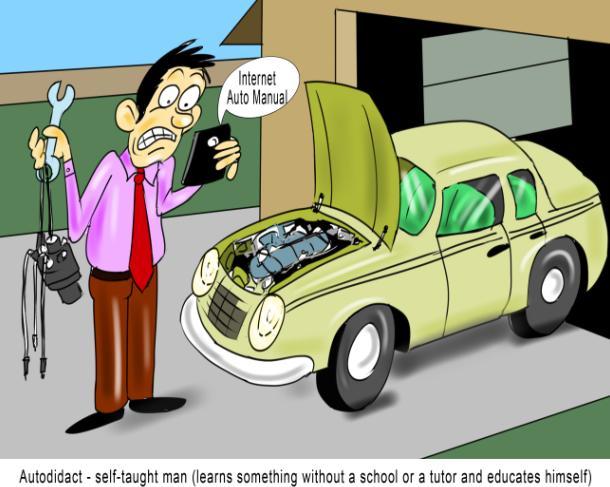 Autodidact self-taught man