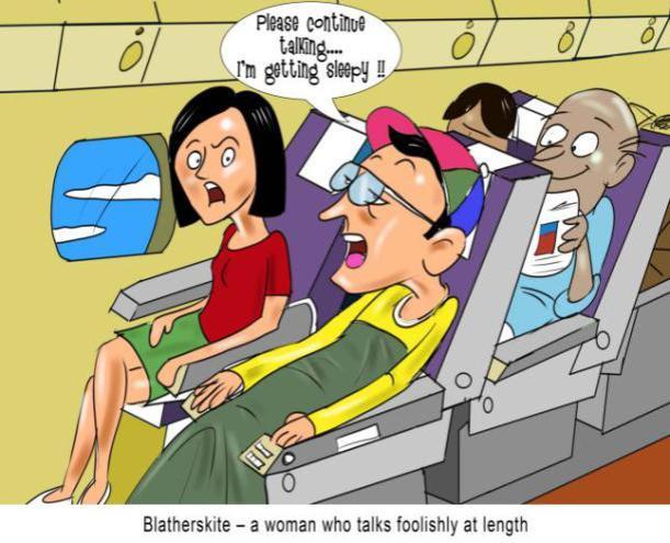 blatherskite-a-woman-who-talks-foolishly-at-length nonsense