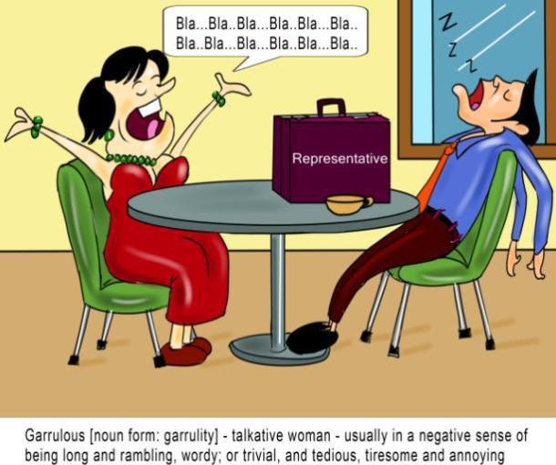 garrulous-noun-form-garrulity-talkative-woman nonsense