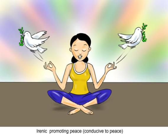 Irenic promoting peace