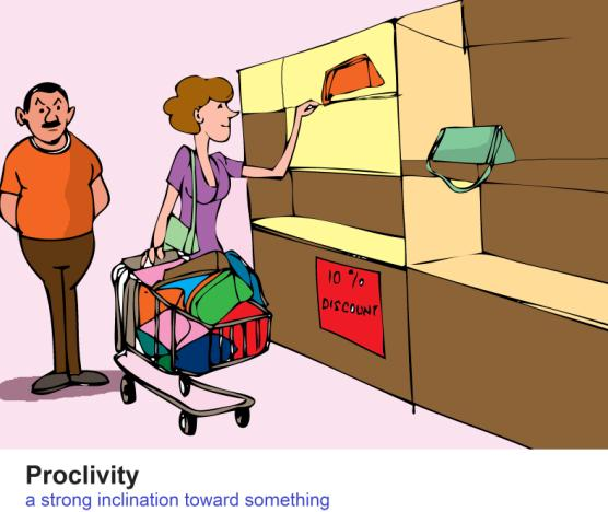 Proclivity a strong inclination toward something