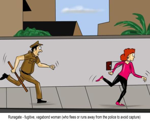 Runagate fugitive vagabond woman