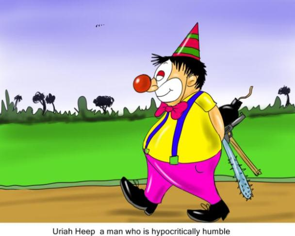Uriah Heep man who is hypocritically humble