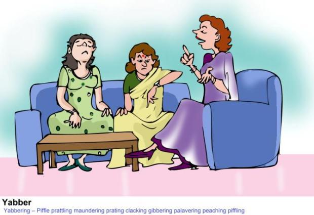 Yabbering Piffle Prattling Maundering Pratling