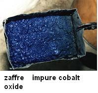 zaffre impure cobalt oxide