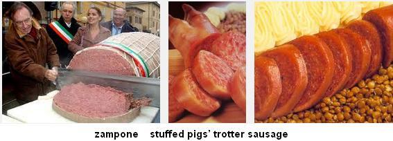 zampone stuffed pigs' trotter sausage