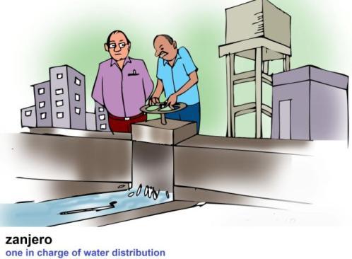 zanjero supervisor of irrigation canals