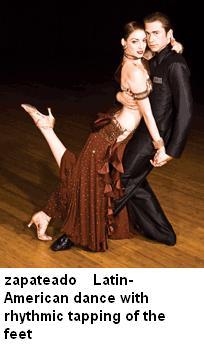 Zapateado latin american dance tapping of feet