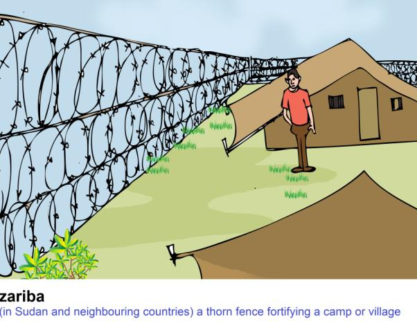 zariba square fence of thorn-bushes fortified camp