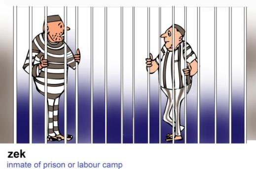 zek inmate of prison labour camp