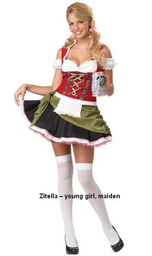 Zitella young girl maiden