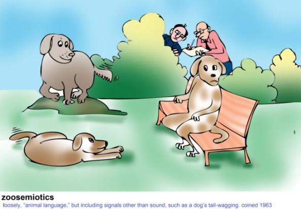 zoosemiotics loosely animal language
