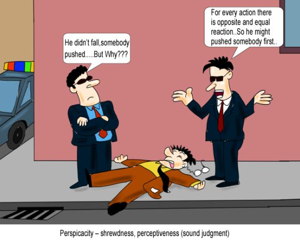 Perspicacity shrewdness perceptiveness